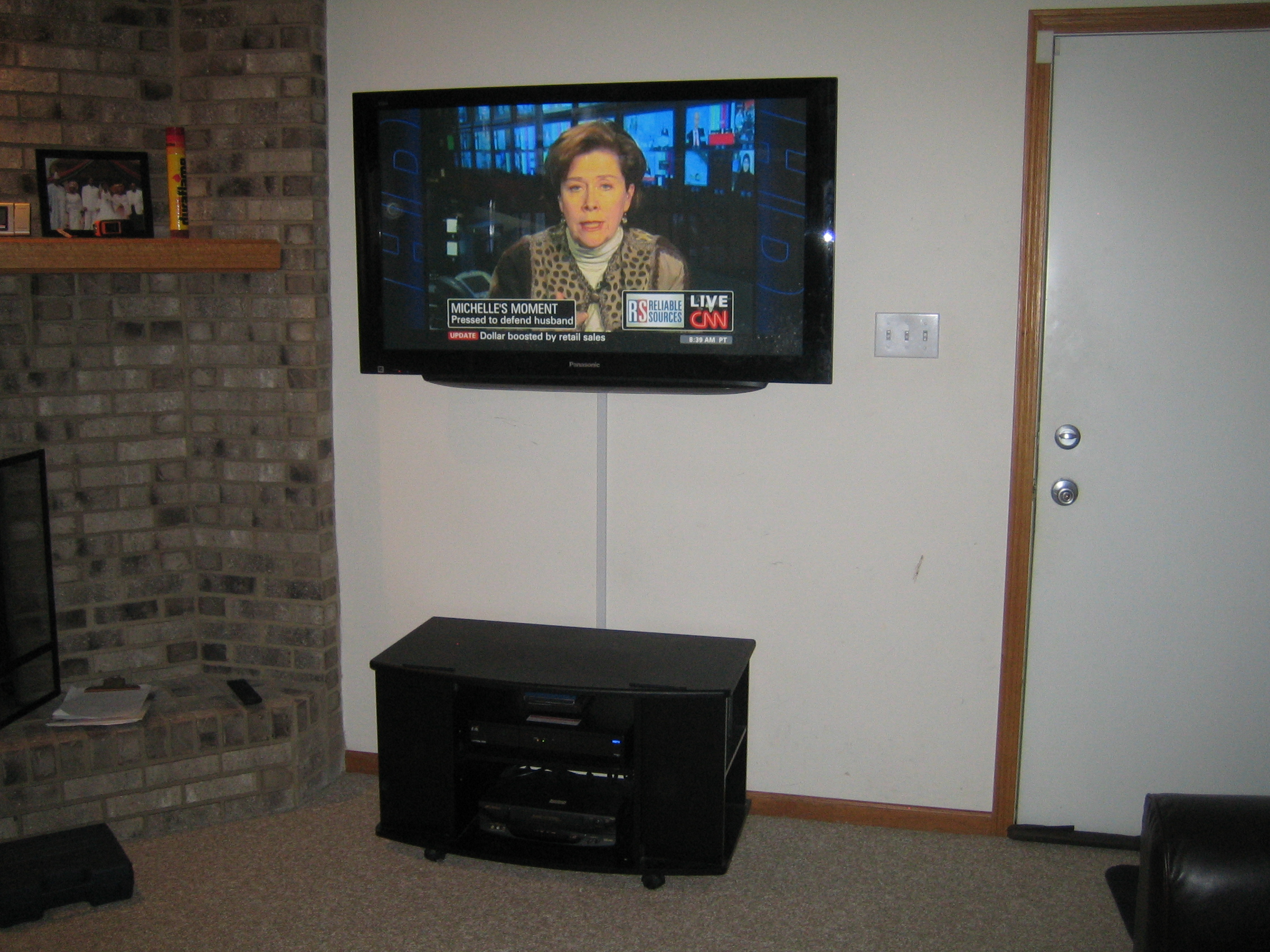 Best Tv Mount Service By Music Evolution Installs Home Wiring Wall Wires Cables Are Left Exposed Or Optional Wire Mold Is Used To Hide